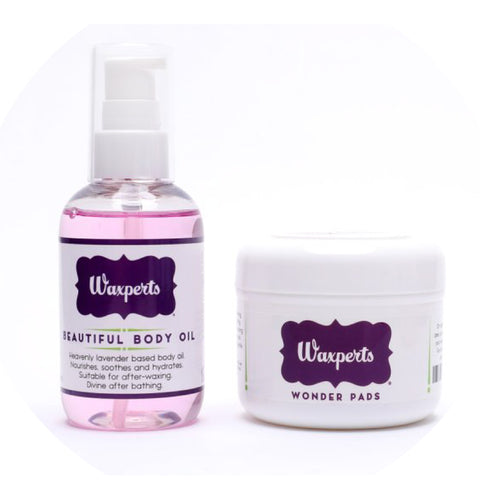 Waxperts Wonder Pads and Beautiful Body Oil Duo