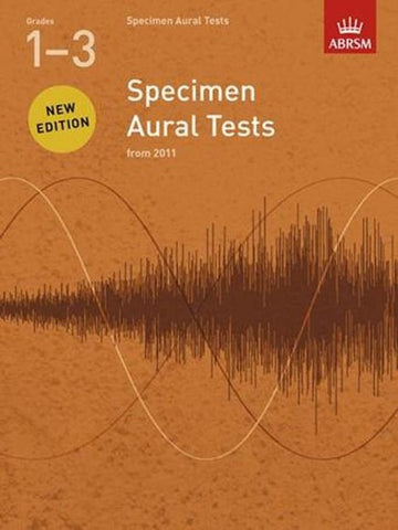 ABRSM Specimen Aural Tests G1-3 Book only