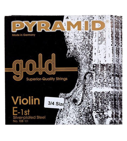 Pyramid Gold Violin String - 3/4 Size Set