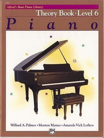 Alfred's Basic Piano Library Theory 6