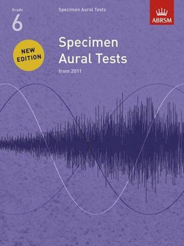 ABRSM Specimen Aural Tests G6 Book only