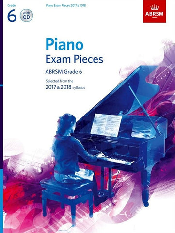 ABRSM Piano Exam Pieces Grade 6 2017-2018 (Book and CD)