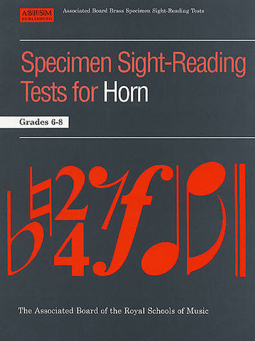 ABRSM Sight-Reading Grades 6 to 8 - French Horn