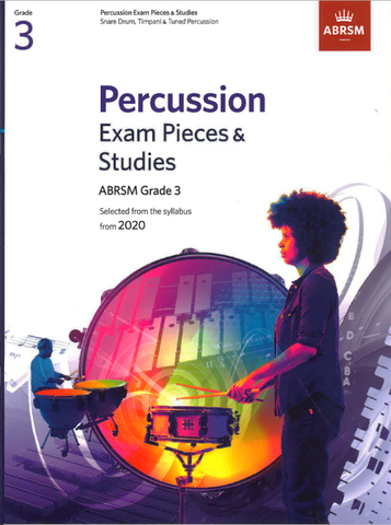 ABRSM Percussion Exam Pieces & Studies from 2020 Grade 3