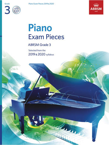 ABRSM Piano Exam Pieces 2019-2020 Grade 3 (book/CD)