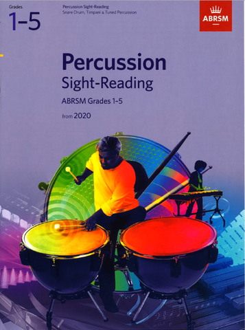 ABRSM Percussion Sight-Reading from 2020 Grades 1-5