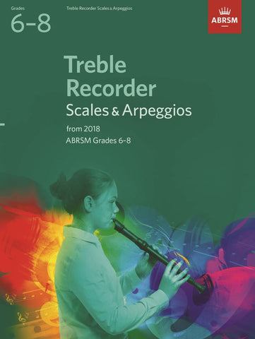 ABRSM Treble Recorder Scales & Arpeggios Grades 6-8 from 2018