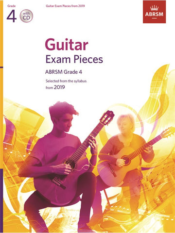 ABRSM Guitar Exam Pieces from 2019 Grade 4 Book/CD