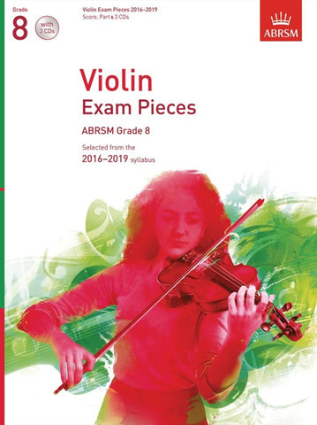 ABRSM Violin Exam Pieces 2016-2019 - Grade 8: score, part & 3xCDs