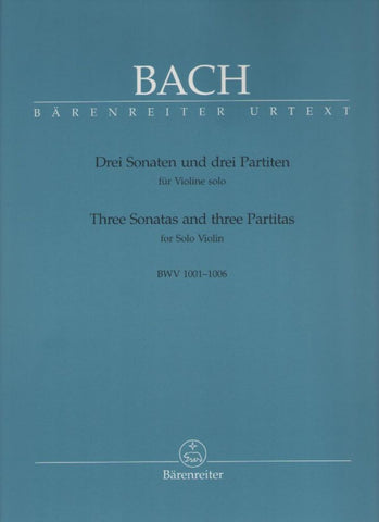 Bach Three Sonatas and Three Partitas for Solo Violin (Barenreiter)