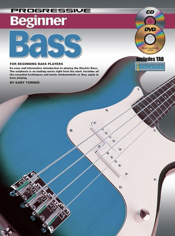 Progressive Beginner Bass - Book/CD/DVD