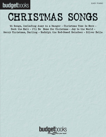 Budget Book Christmas Songs Easy Piano