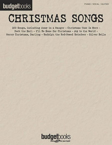 Budget Book Christmas Songs PVG