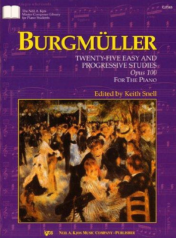 Burgmuller 25 Easy and Progressive Studies Opus 100 (KJOS)