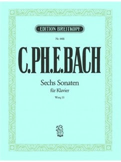 C. Ph. E. Bach - Six Sonatas for Piano (Breitkopf)