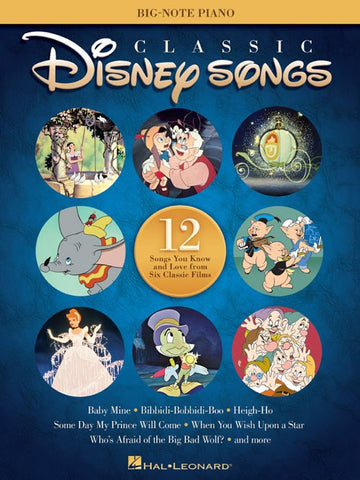 Classic Disney Songs (Big-Note Piano Songbook)