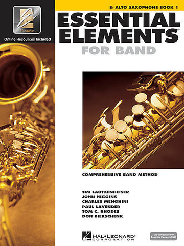 Essential Elements For Band Alto Sax Book One