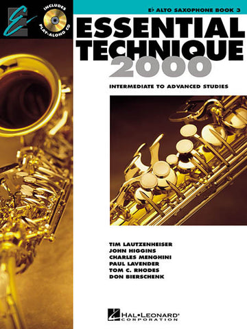 Essential Technique 2000 Alto Sax 3: Bk/CD