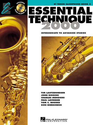 Essential Technique 2000 Tenor Sax 3: Bk/CD