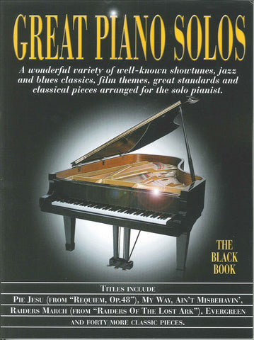 Great Piano Solos The Black Book