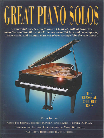 Great Piano Solos The Classical Chillout Book