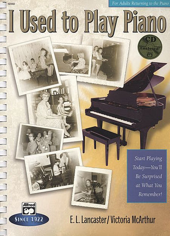 Alfred's I Used to Play Piano (Book & CD)