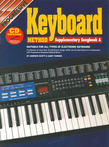 Progressive Keyboard Supplementary Songbook A - Book/CD