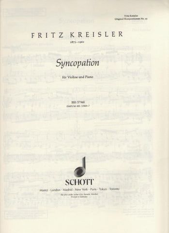 Kreisler - Syncopation - violin