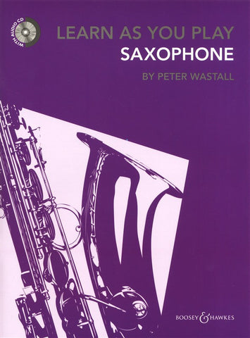 Learn As You Play Saxophone Book/CD REVISED EDITION