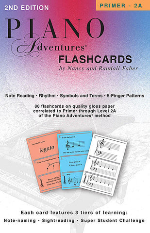 Piano Adventures Flashcards - Primer to Level 2A