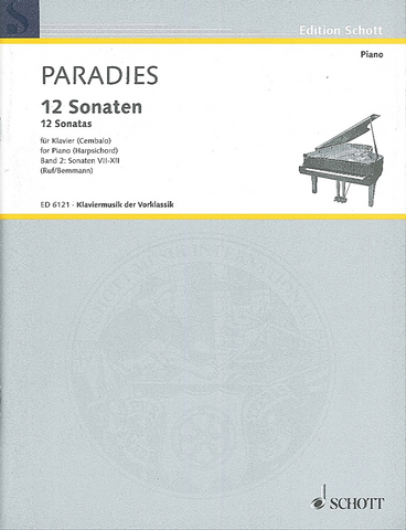 Paradies - 12 Sonatas for Harpsichord Volume 2 (Schott)