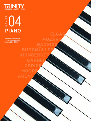 Trinity Piano Exam Grade 4 book only - from 2018-2020