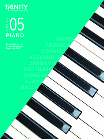 Trinity Piano Exam Grade 5 book only - from 2018-2020