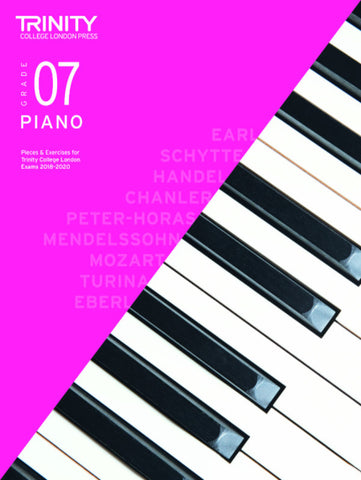 Trinity Piano Exam Grade 7 book only - from 2018-2020