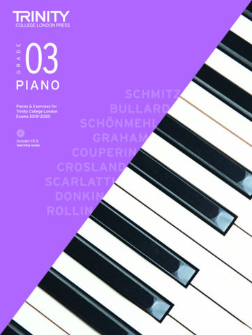 Trinity Piano Exam Grade 3 bk/CD - from 2018-2020