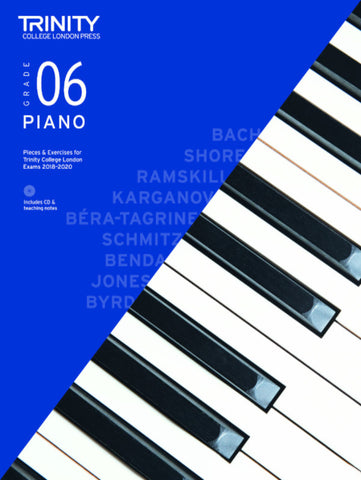 Trinity Piano Exam Grade 6 bk/CD - from 2018-2020