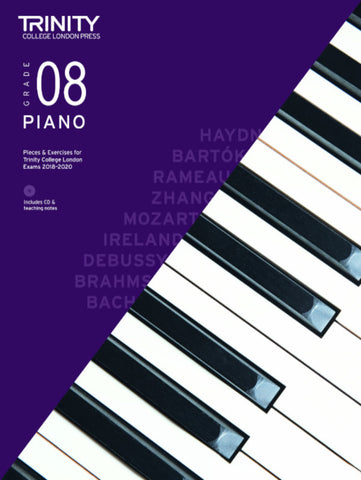 Trinity Piano Exam Grade 8 bk/CD - from 2018-2020