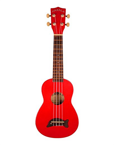 Makala Dolphin Soprano Ukulele - Cherry Apple Red