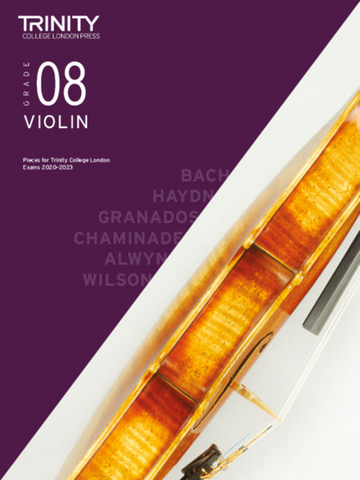 Trinity College London: Violin Grade 8 Exam pieces 2020-2023