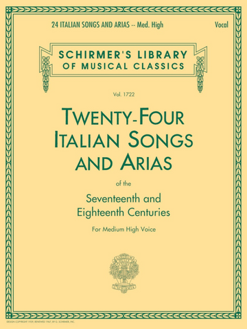 24 Italian Songs and Arias (Medium High Voice) (Schirmer)