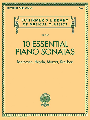 10 Essential Piano Sonatas - Various Composers - G. Schirmer, Inc.