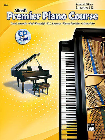 Alfred's Premier Piano Course Lesson 1B Book/CD