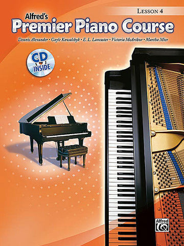 Alfred's Premier Piano Course Lesson 4 Book/CD