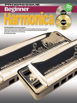 Progressive Beginner Harmonica - Book/CD/DVD