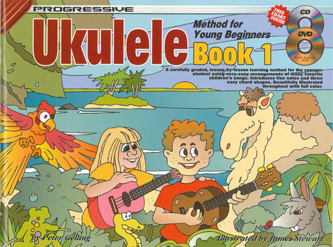 Progressive Young Beginner Ukulele - Book/CD/DVD
