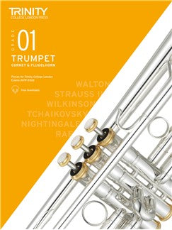 Trinity Trumpet Exam Grade 1 Book and Audio Download - from 2019-2022