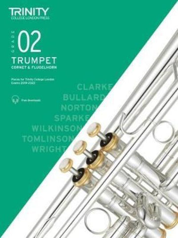 Trinity Trumpet Exam Grade 2 Book and Audio Download - from 2019-2022