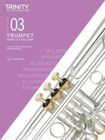 Trinity Trumpet Exam Grade 3 Book and Audio Download - from 2019-2022