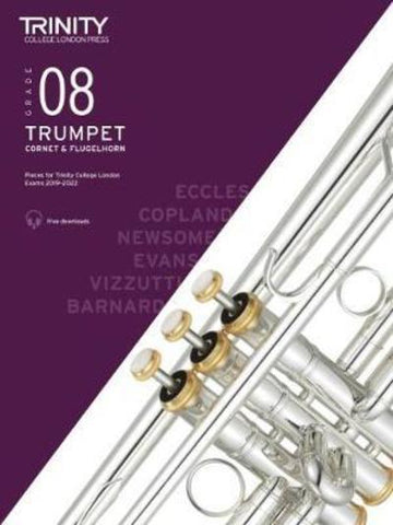 Trinity Trumpet Exam Grade 8 Book and Audio Download - from 2019-2022