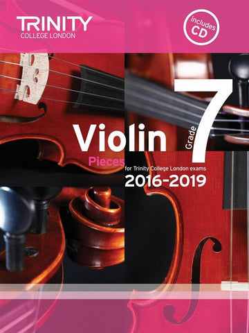 Trinity College Violin Pieces 2016-19 Grade 7: score and part, with CD